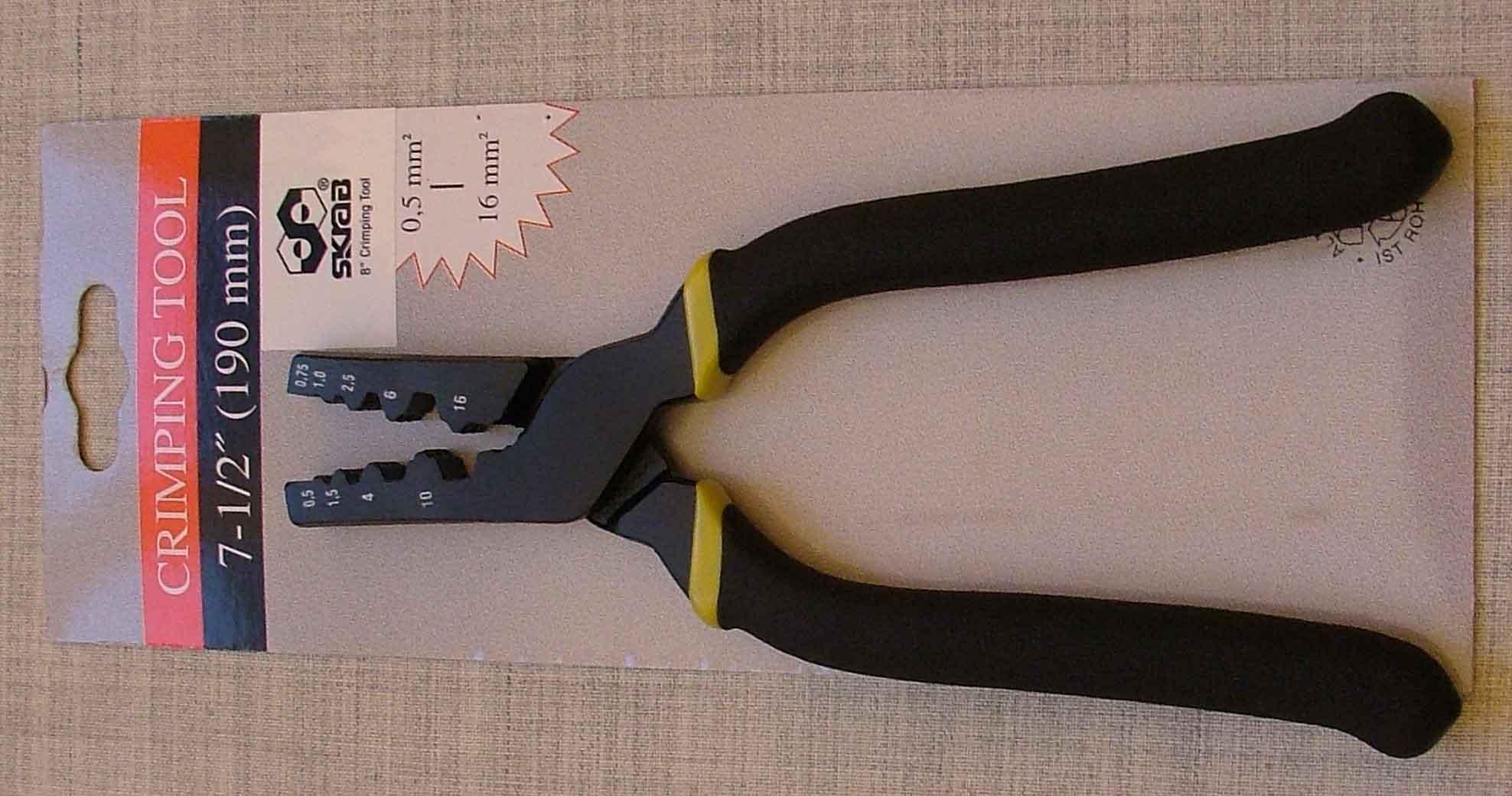 щипцы для клемм skrab - Клещи для зажатия клемм 190мм - Клещи для снятия изоляции