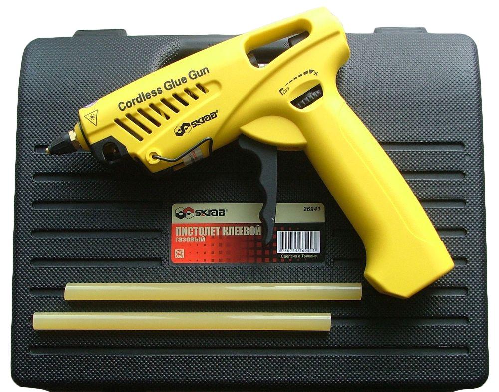 Клеевые пистолеты - Пистолет клеевой газовый в кор.