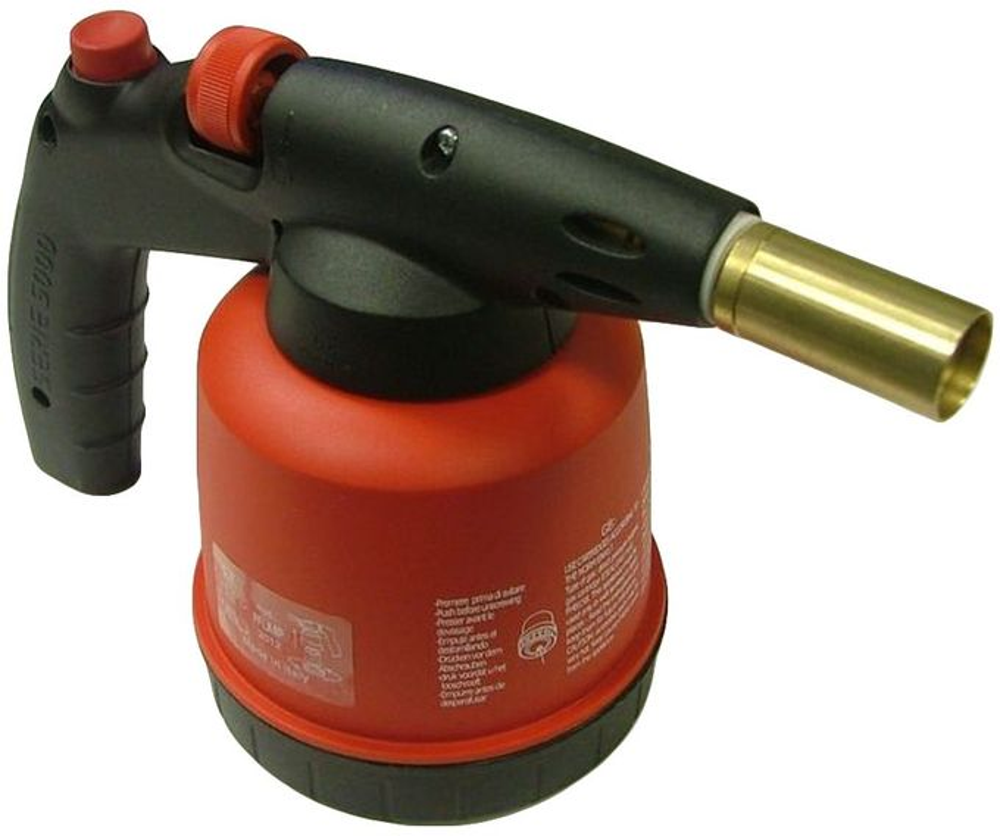 Газовые горелки, баллоны - Газовая горелка с пьезо /красн